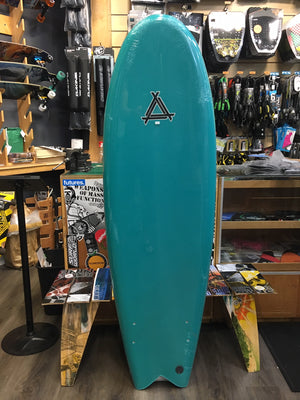 "Soft Surfboard Triple X 5'10 x 21"" Twin Fin Fish SURF WORLD"