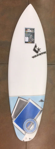 Clever 5'9 Fish Jet Blue Tail Air Brush Surfboard - SURF WORLD Florida