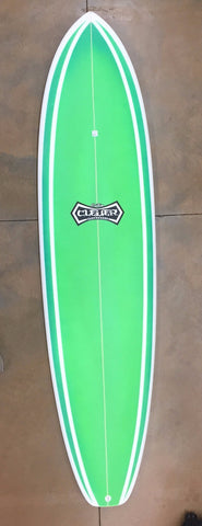 "Clever 7""6 Funshape Green Color Fcs II Tri 4917 - SURF WORLD Fort Lauderdale Florida"