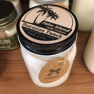 Palm Island Candle Co.  16oz Mason Jar - Hawaiian Punch SURF WORLD
