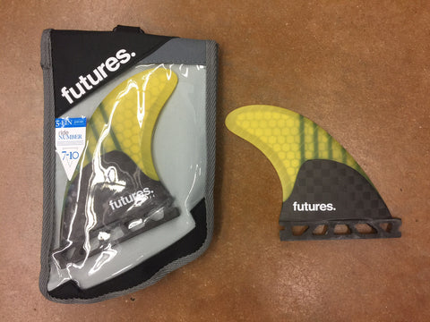Futures V2F4 Generation Series 5 Fin Yellow Set - SURF WORLD Florida