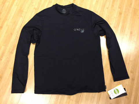 Oneill Men's Black Mesh Skins Long Sleeve Rash Tee - SURF WORLD Florida