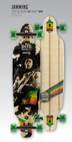 "Sector 9 Bob Marley Edition Jamming 17 Complete 37.5"" X 9.25"" Free Shipping - SURF WORLD Florida"
