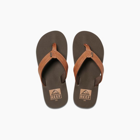 Reef Kids Little Twinpin Sandals - Brown