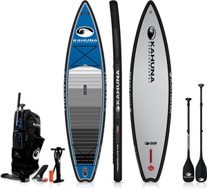 Kahanua ISUP Inflatable SUP - 11' Touring Lite Paddle Board Blue