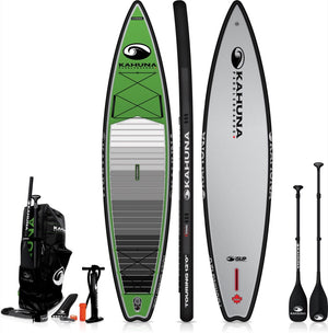 Kahanua ISUP Inflatable SUP - 12' Touring Paddle Board Green