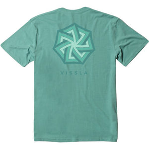 Vissla Labyrinth Mens T Shirt - Jade Heather