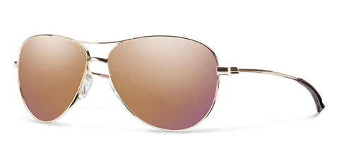 Smith Langley Gold Rose Gold Mirror Aviator Polarized Sunglasses - SURF WORLD