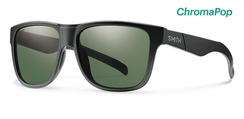 Smith Lowdown XL Matte Black ChromaPop Polarized Gray Green Lens Sunglasses - SURF WORLD
