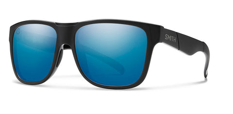 Smith Lowdown XL Salty Crew Matte Black ChromaPop Polarized Blue Mirror Lens Sunglasses - SURF WORLD
