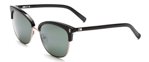 Otis Little Lies Reflect Polarized Sunglasses - Black Flash Mirror Grey Lense