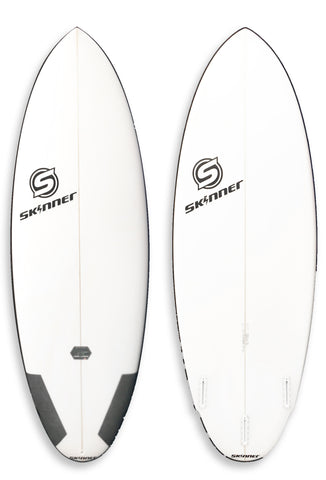 "Skinner Loose Cannon Round Tail Surfboard 5'7 x 21.5"" x 2 5/8"" 33.94 Liters Twin Fin + - SURF WORLD  - 1"
