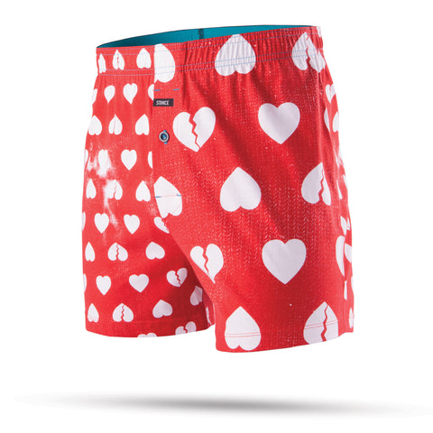 Stance Faded Hearts Vista Relaxed Fit Boxers - Red - SURF WORLD Florida