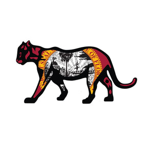 "Flomotion Florida Panther FL Flag Sticker 10"" SURF WORLD"