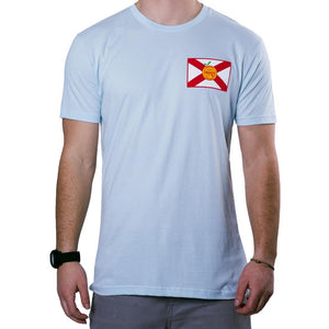 Flomotion Florida Pocket Flag Tee Shirt - Light Blue SURF WORLD