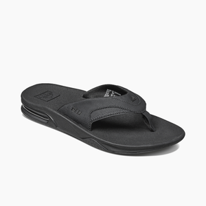 Reef Fanning Bottle Opening Sandals - All Black
