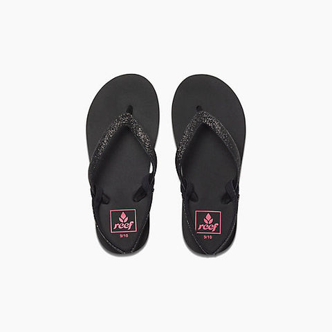 Reef Little Stargazer Girls Sandals Black Black