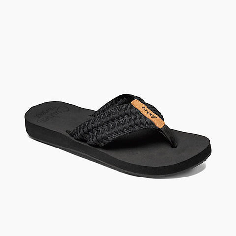 Reef Womens Cushion Threads Sandals - Black
