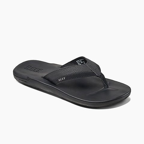 Reef Contoured Cushion Mens Sandals - Black - SURF WORLD Fort Lauderdale Florida