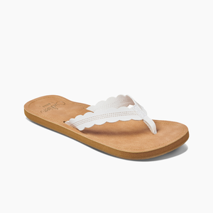 Reef Cushion Celine Sandals - Cloud White