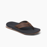 Reef Leather Fanning Low Men's Sandals - Dark Brown
