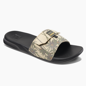 Reef Stash Slide Sandal -  Tan Palm