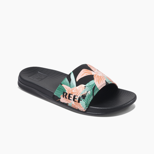 Reef One Slide Women's Sandals - Hibiscus