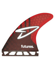Futures Fins Roberts V2 Medium HC Five Fin Carbon Red Smoke Fins 240340650 - SURF WORLD Florida