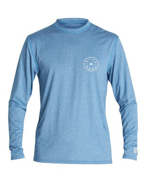 Billabong Rotor Loose Fit LS Boys Rashguard - Royal Heather