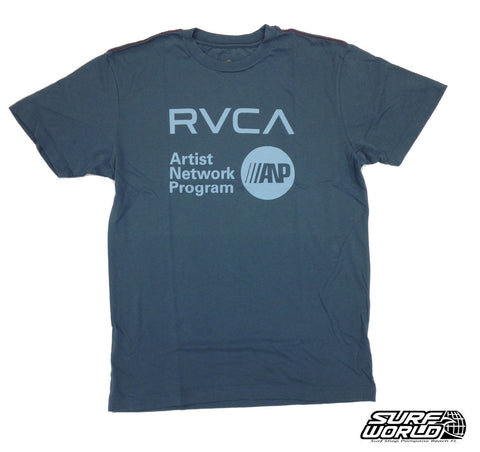 RVCA ANP Tee Shirt Dark Silver M604805R - SURF WORLD Fort Lauderdale Florida