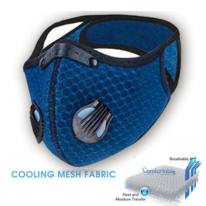 The perfect gym mask 3d cool mesh material with filter - Royal Blue