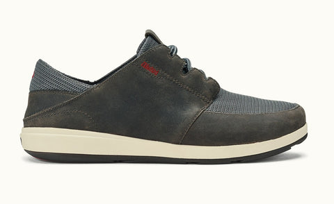 Olukai Makia Lace Men's Shoes - Charcoal
