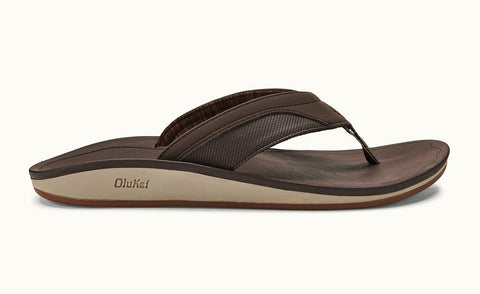 Olukai Nohona Men's Sandals - Dark Wood Dark Wood