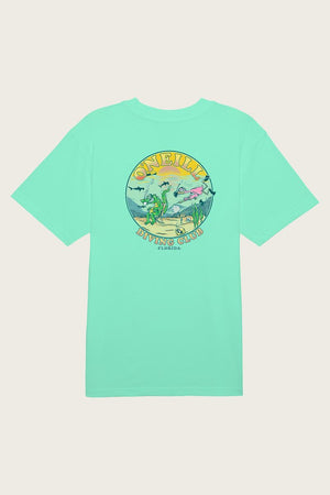 Oneill Diving Club Mens T Shirt - Mint