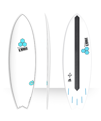 "Torq Channel Islands Al Merrick Pod Mod 6'2"" Surfboard - White"