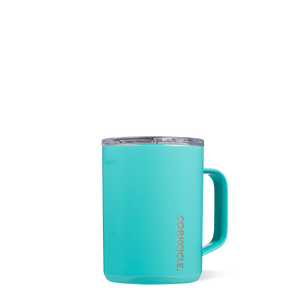 Corkcicle Triple Insulated Coffee Cup 16oz Cup - Turquoise SURF WORLD