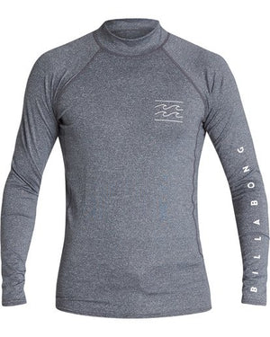 Billabong Unity Performance LS Mens Rashguard - Grey Heather / Navy