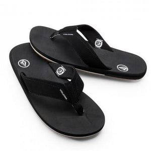 Volcom Men's Victor Sandal - Black SURF WORLD