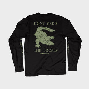 Flomotion Vibes Don't Feed the Locals Alligator LS Tee - Black or White