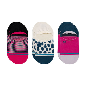"Stance Running Wild ""No Show"" Socks 3 PACK - Multi"