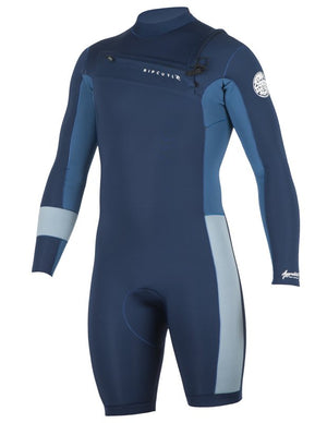 Rip Curl Aggrolite LS Spring Suit - Black / Navy SURF WORLD