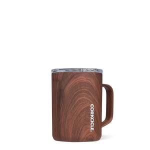 Corkcicle Triple Insulated Coffee Cup 16oz Cup - Walnut Wood SURF WORLD