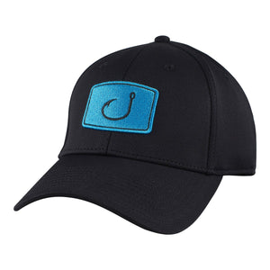 Avid Iconic Fitted Fishing Hat - Black / Cyan SURF WORLD