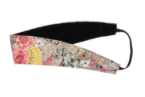 Banded Wide Rose Floral Headband 3158 - SURF WORLD Florida