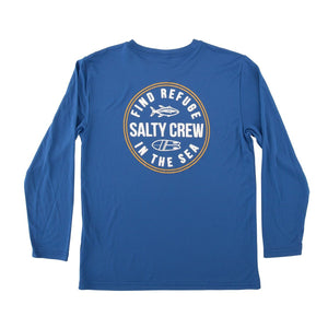 Salty Crew Twin Fin Boys L/S Tech Tee UPF - Royal SURF WORLD