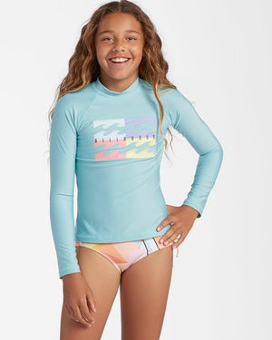 Billabong Core Surfdaze Grils Rashguard - Marine Blue / Peachy Daze