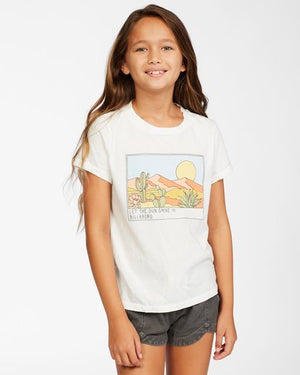 Billabong Girls Sunny Skies T Shirt - Salt Crystal