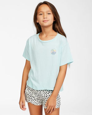 Billabong Girls Good Things T Shirt - Waterfall
