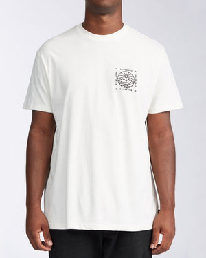 Billabong Acadia SS Mens T Shirt - Off White