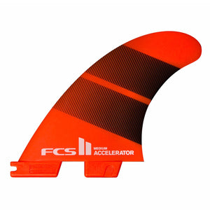 FCS II Accelerator Neo Glass Large Thruster Fins - Tang Gradient SURF WORLD